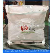 100% pp tissé recyclé utilisé 1 sac jumbo de tonne pour le ciment de sable et le produit chimique