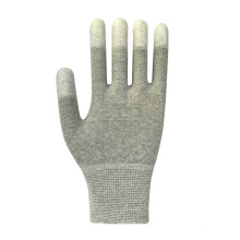 Gray Polyester PU Coated Safety Glove