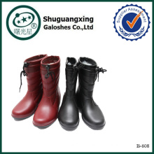 women mature rubber rain boots warm boots B-808