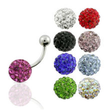 Body piercing navel ring jewelry crystal adjustable navel rings