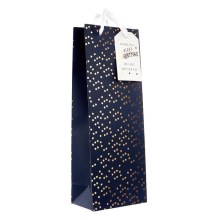 Wholesale Luxury paper christmas wine bottle gift bag