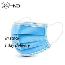 BFE 99 одноразовая медицинская 3-х слойная маска