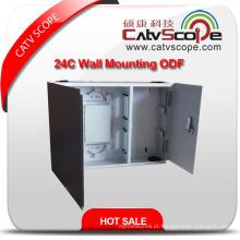 Caixa de distribuição de montagem de parede de cabo de fibra óptica de Csp-Zf 24c / ODF