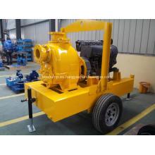 impulsor autocebante basura vertical de las aguas residuales manejo de bomba centrífuga de motor diesel