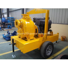 impeller self-priming sewage vertical trash handling centrifugal diesel engine pump