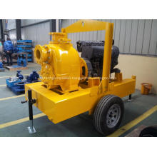 trailer mounted self priming trash water diesel pump unit