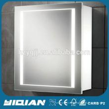 Hotel High End LED de almacenamiento de luz Gabinete de ahorro de espacio para el afeitado Venta caliente gabinete de espejo para el hogar