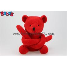 Новый дизайн красный длинный рука плюшевый игрушечный медведь игрушка Bos1119