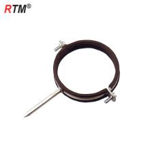Abrazaderas de tubo simple métrico de acero inoxidable con tornillo