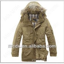 coreanos capucha invierno trinchera hombres