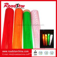 Micro prisma reflectante PVC película para brazalete