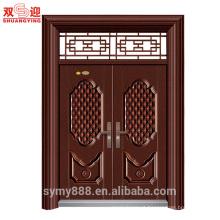 Porta de aço da porta do projeto indiano porta dupla folha porta nivelada