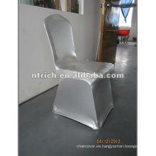 Sello de Spandex silla cubierta de plata, cubierta de la silla del banquete/del Hotel, cubierta de la silla de la boda