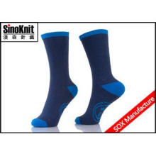 Navy Blue Cotton Man Casual Socks / Large Size Antibacteria