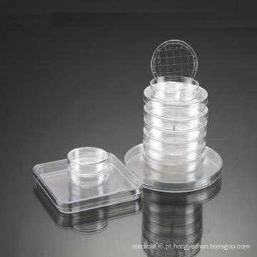 Placa de Petri com cultura de plástico descartável aprovada pela CE