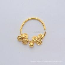 Vente en gros Bijoux en or plaqué or à la meilleure qualité, bijoux en or 925 en argent sterling Piercing en pierres bijoux