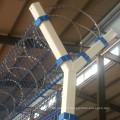 3 м высотой сварной проволоки Забор аэропорта с Concertina Razor Колючая проволока
