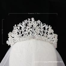 2020 nouveau style de mariage couronne de cristal diadème de mariée grande couronne de reconstitution historique