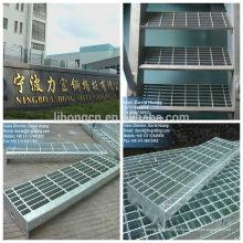 Escalier en acier galvanisé, bande d'escalier en acier galvanisé, grille galvanisée SS400