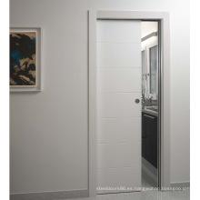 Diseño atractivo interior blanco MDF Puertas para Villa, Hotel