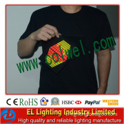 Newest Wireless EL T-Shirt Equaliser Lighting EL T-Shirt