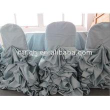 Charmante chaise froissée satin housses, housses de chaise de décoration de mariage