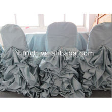 Charming satin ruffled chair covers,wedding decoration chair covers