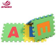 Eco-friendly eva foam  tatami mats alphabet puzzle baby playing floor baby crawling mat