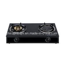 2 quemadores de cristal templado superior de latón 115 y infrarrojos de 160 cocina de gas / estufa de gas