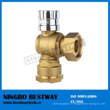 Fabricant de vanne à boisseau sphérique en laiton Dn15 verrouillable (BW-L04)