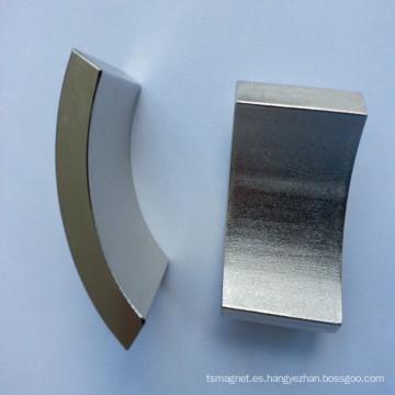 Imán de Tierra Rara Permanente, Forma de Segmento de Arco, Adecuado para Motor