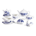 New Bone China Blue Floral Geschirr