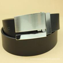 mens fashion alloy buckle black leather belt