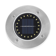 Luz subterránea circular solar