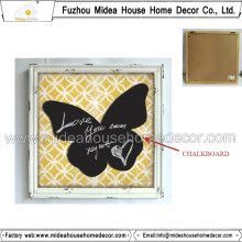 Antique Butterfly Design Blackboard Décorations