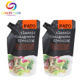 Reclosable Stand Up Sauce Spout Packaging Bag Plastic
