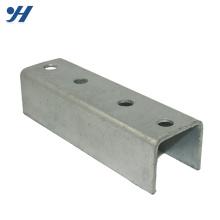 Support en acier en forme de U de matériel plaqué en zinc de prix usine