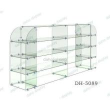 DIY glass display shelf