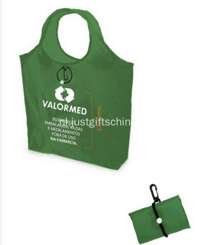 Promotionele Polyester vouwen Shopping Tote