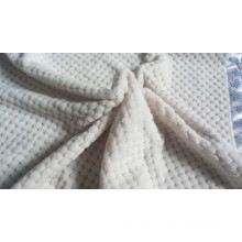 Super Soft New 3D Embossed Flannel Fleece Blanket / Cut Fleece Blanket with Satins