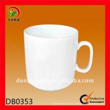 canecas brancas planas personalizadas da porcelana 225cc