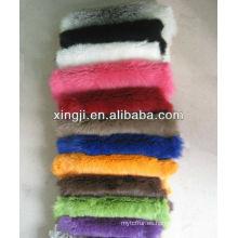 piel de conejo multicolor suave piel suave