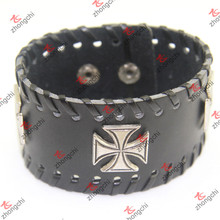 Leather Bracelet Rivet Decoration for Unisex Cool Bracelet (LB15120402)