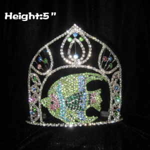 5inch Crystal Fish Pageant Rhinestone Crowns