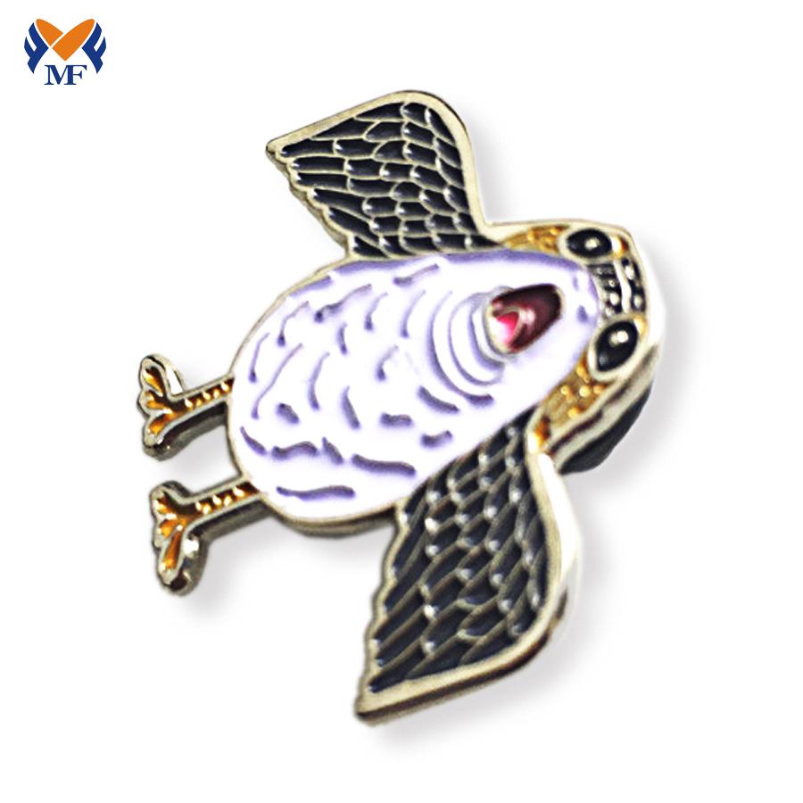 Bird Lapel Pin Badge