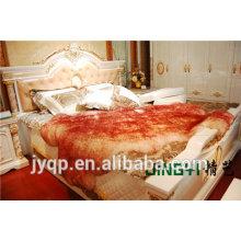 Wholesale Tibetan Mongolian Lamb Fur sheepskin frabic textile blanket 180X180cm