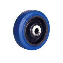 Rodas simples de borracha elástica azul