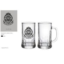 Taza de cerveza de vaso de vidrio Taza de cerveza de vidrio Kb-Hn03590