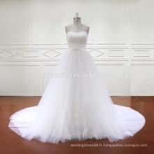 Robes de mariée de haute qualité avec train détachable HD013