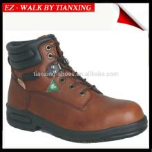 Zapatos de seguridad aprobados por CSA con puntera de acero